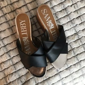 Sam & Libby Shoes - Sam & Libby metallic wedge sandals